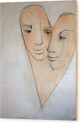 Wed Wood Print by Anna Elkins