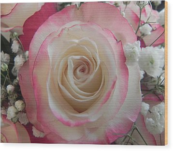 Wood Print featuring the photograph Wedding Bouquet by Deb Halloran