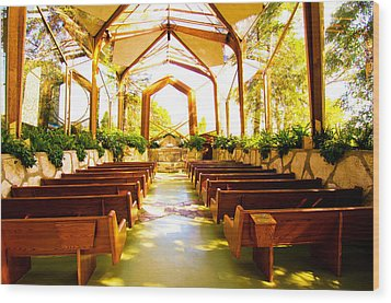 Wood Print featuring the photograph Wedding Chapel by Joseph Hollingsworth