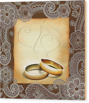Wedding Memories V1a Classic Wood Print by Peter Awax