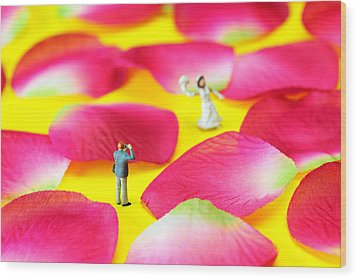 Wedding Photography Little People Big Worlds Wood Print by Paul Ge