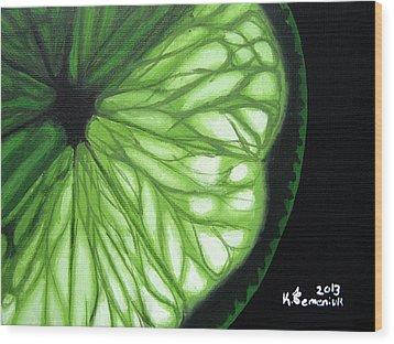 Wedge It Wood Print by Kayleigh Semeniuk