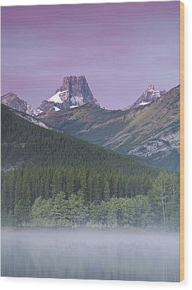 Wedge Pond And The Fortress Wood Print