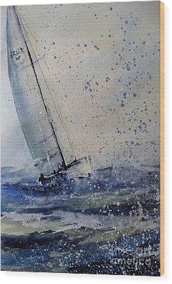 Wednesday Evening Sail Wood Print