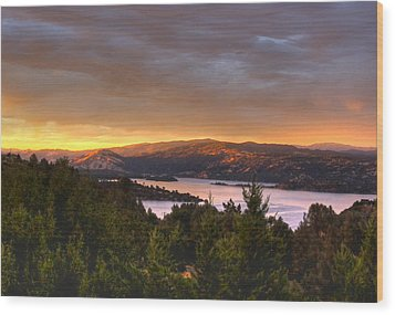 Wood Print featuring the photograph Wednesday Evening Sunset by Kandy Hurley