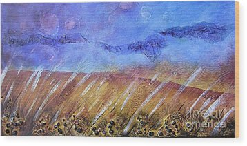 Weeds Among The Wheat Wood Print by Jocelyn Friis