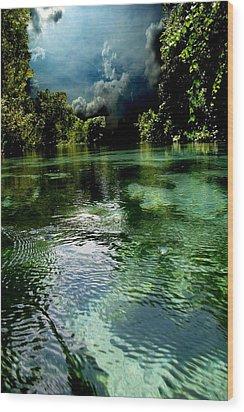 Weekie Sky Wood Print by AR Annahita