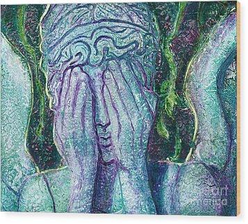Weeping Angel Wood Print