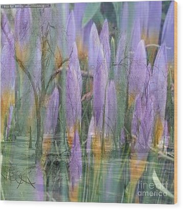 Weeping Flowers Wood Print by PainterArtist FIN