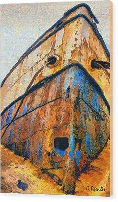 Weeping Ship Wood Print by George Rossidis