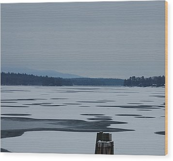 Weirs Beach Nh Almost Wood Print by Mim White