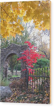 Welcome Autumn Wood Print