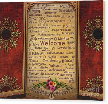 Welcome Wood Print by Bedros Awak