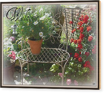 Wood Print featuring the photograph Welcome Flowers by Heidi Manly