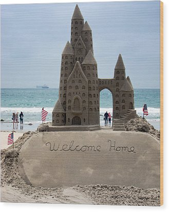 Welcome Home Wood Print