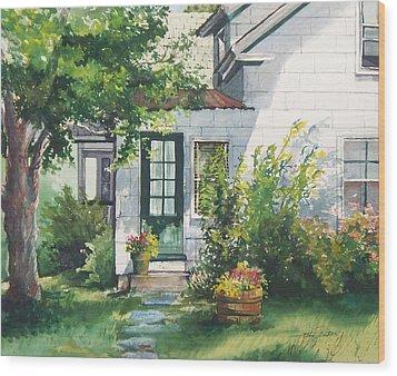 Welcome Wood Print by Joy Nichols