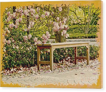 Welcome Spring Wood Print by Carol F Austin