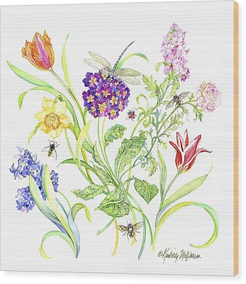 Welcome Spring I Wood Print by Kimberly McSparran