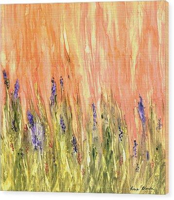 Welcome Spring Wood Print by Rosie Brown