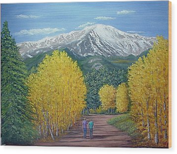 Wood Print featuring the painting Welcome To God's Country by Fran Brooks