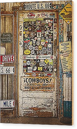 Welcome To Hackberry General Store Wood Print by Priscilla Burgers