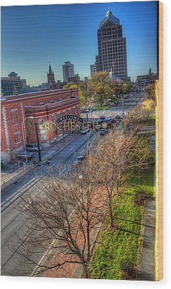 Welcome To Rochester Wood Print by Tim Buisman