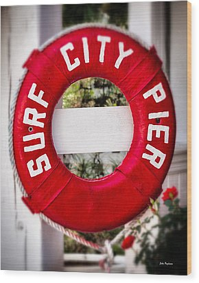 Welcome To Surf City Wood Print