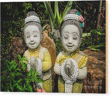 Welcome To Thailand Wood Print by Adrian Evans