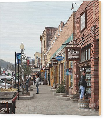 Welcome To Truckee California 5d27445 Square Wood Print by Wingsdomain Art and Photography