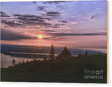 Welcoming A New Day Wood Print by Arnie Goldstein