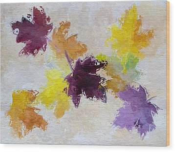 Welcoming Autumn Wood Print by Heidi Smith