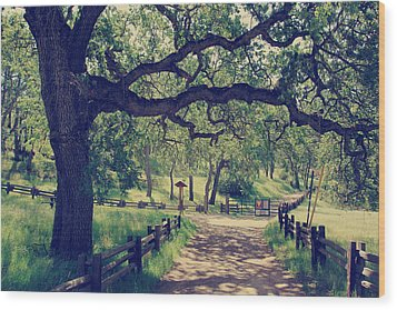 Welcoming Wood Print by Laurie Search