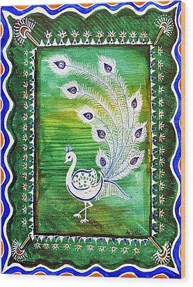 Welcoming Rain Wood Print by Anjali Vaidya