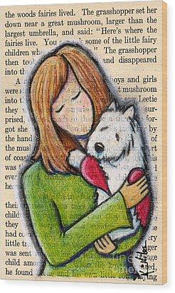 We'll Both Miss You Wood Print by Kim Niles