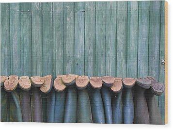 Wellies Wood Print by Brendan Quinn