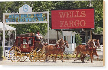 Wood Print featuring the photograph Wells Fargo At Devon by Alice Gipson
