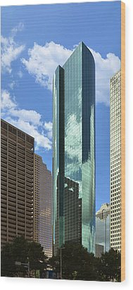 Wells Fargo Plaza Houston Tx Wood Print by Christine Till