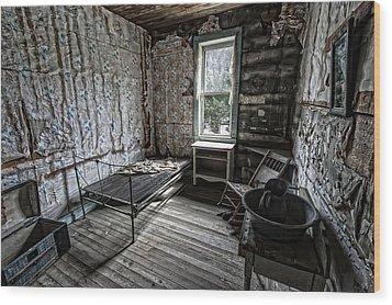Wells Hotel Room 2 - Garnet Ghost Town - Montana Wood Print by Daniel Hagerman