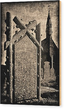 Welsh Graveyard Wood Print