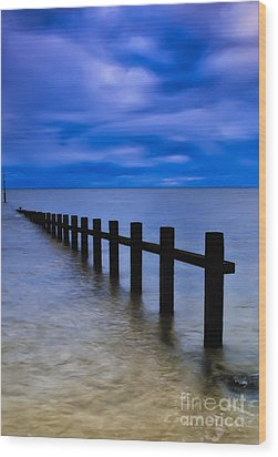 Welsh Seascape Wood Print by Adrian Evans