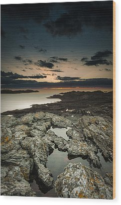 Welsh Seascape Wood Print by Andy Astbury