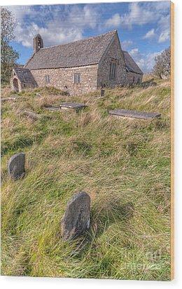 Welsh Tombs Wood Print by Adrian Evans