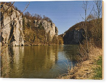 Weltenburg Narrows Wood Print