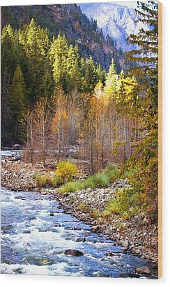 Wenatchee River - Leavenworth - Washington Wood Print
