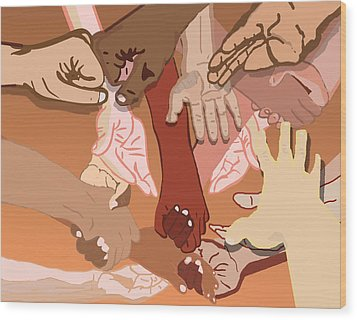 We're All In This Together Wood Print by Pharris Art