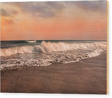 We're Having The Tide Of Our Lives Wood Print by Betsy Knapp