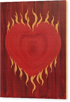Were Not Our Hearts Burning Within Us Wood Print by Michele Myers