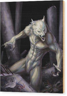 Werewolf Wood Print by Bryan Syme