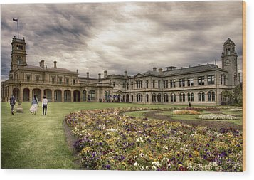 Wood Print featuring the photograph Werribee Mansion by Kim Andelkovic