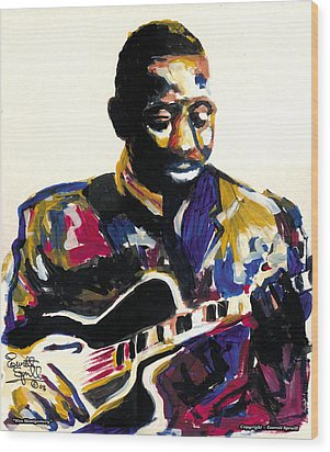 Wes Montgomery Wood Print by Everett Spruill